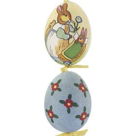 Personalized Bunny Holding Flower Easter Egg Christmas Ornament