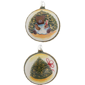 Christmas Tree Teddy Bear (Sitting Bear) Christmas Ornament