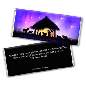 Personalized Christmas Holy Night Chocolate Bar & Wrapper