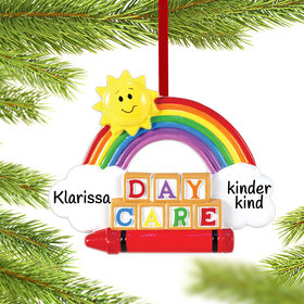 Personalized Day Care Blocks Christmas Ornament