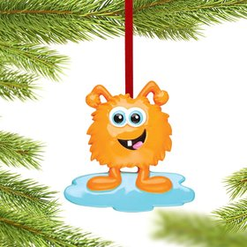 Goofy Monster Character (Orange) Christmas Ornament
