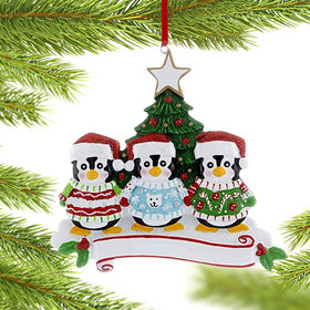 Penguin Christmas Sweater Family of 3 Christmas Ornament