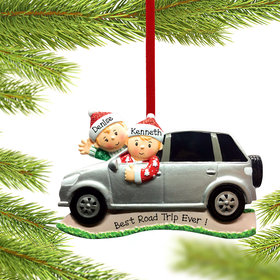 Personalized SUV Couple Christmas Ornament