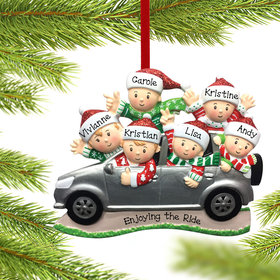 Personalized SUV Family of 6 Christmas Ornament