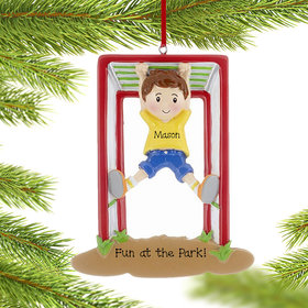 Personalized Jungle Gym Boy Christmas Ornament