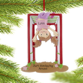 Personalized Jungle Gym Girl Christmas Ornament