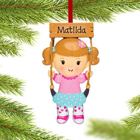 Personalized Swing Girl Christmas Ornament