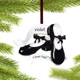 Personalized Tap Dance Shoes Christmas Ornament