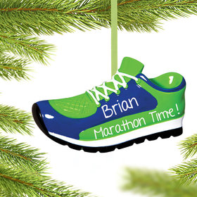 Personalized Blue Sneaker Christmas Ornament