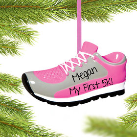 Personalized Pink Sneaker Christmas Ornament