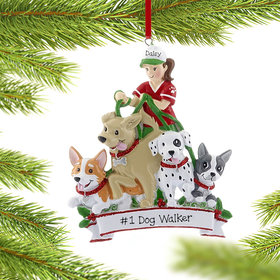 Personalized Dog Walker Christmas Ornament