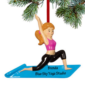 Personalized Yoga Fitness Christmas Ornament