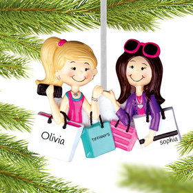 Personalized Shopping Friends Christmas Ornament