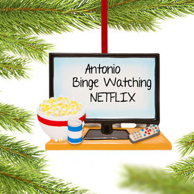 Personalized Big Screen TV Christmas Ornament