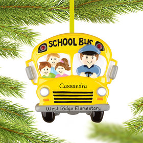 Personalized Bus Driver Christmas Ornament