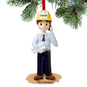 Personalized Engineer on the Job Christmas Ornament
