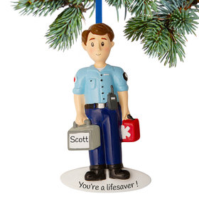 Personalized EMT / First Responder Christmas Ornament