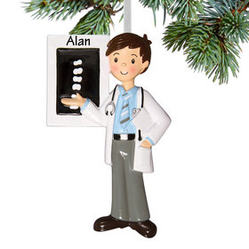 Personalized Chiropractor Christmas Ornament