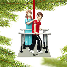 Personalized Physical Therapist with Patient Christmas Ornament