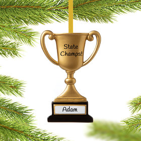 Personalized Trophy Cup on Stand Christmas Ornament
