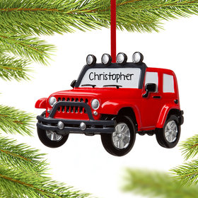 Personalized Jeep 4x4 Christmas Ornament