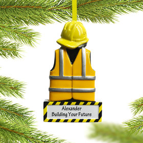 Personalized Construction Uniform Christmas Ornament