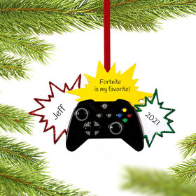 Personalized Star Video Game Player Christmas Ornament