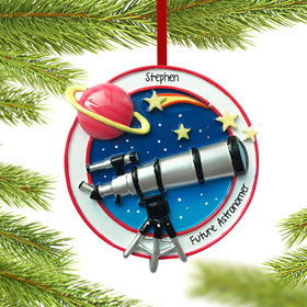 Personalized Telescope Christmas Ornament