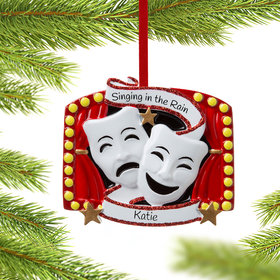 Personalized Theater Masks Christmas Ornament