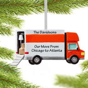 Personalized Moving Van Christmas Ornament
