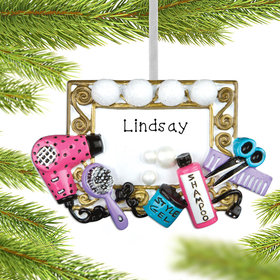 Personalized Hair Stylist Christmas Ornament