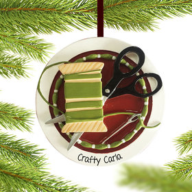 Personalized Sewing Christmas Ornament