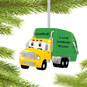 Personalized Garbage Truck Christmas Ornament