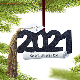 Personalized Class of 2021 Graduation Christmas Ornament