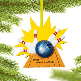 Personalized Bowling Christmas Ornament