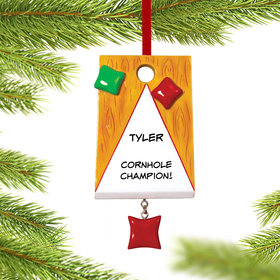 Personalized Corn Hole Christmas Ornament