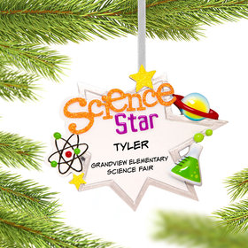 Personalized Science Star Christmas Ornament
