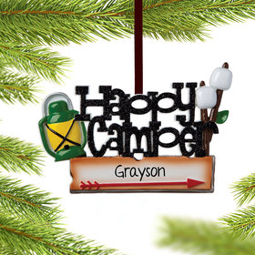 Personalized Happy Camper Christmas Ornament