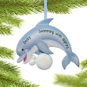 Personalized Dolphin Christmas Ornament