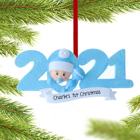 Personalized 2021 Baby's First Christmas Ornament