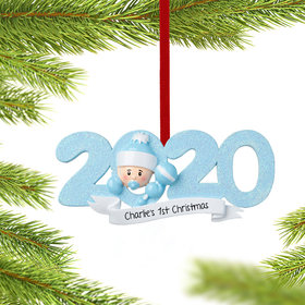 Personalized 2020 Baby's First Christmas Ornament