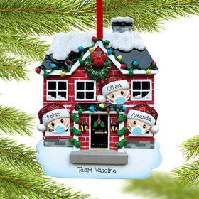 Personalized Vaccine Pandemic Family of 3 Christmas Ornament