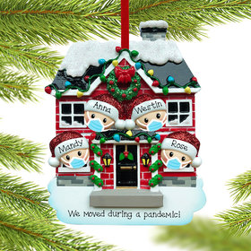 Personalized Vaccine Pandemic Family of 4 Christmas Ornament