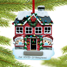 Personalized Quarantine Couple Christmas Ornament