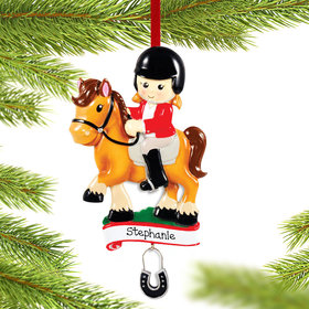 Personalized Horse Rider Christmas Ornament