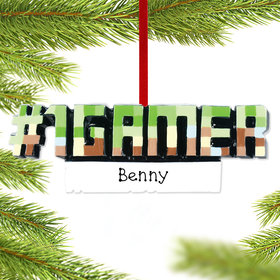 Personalized #1 Gamer Christmas Ornament