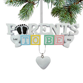 Personalized Baby's First - Parents to Be Christmas Ornament
