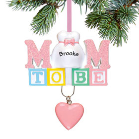 Personalized Baby's First - Mom to Be Christmas Ornament