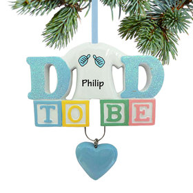 Personalized Baby's First - Dad to Be Christmas Ornament
