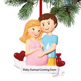 Personalized Baby's First - Expecting Couple Christmas Ornament
